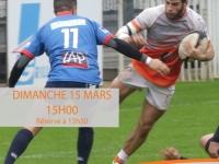 Ce dimanche, à 15 heures, venez tous encourager nos rugbymans du RTC