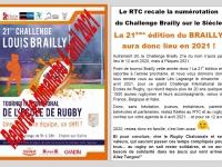Report en 2021 pour le  Challenge Brailly