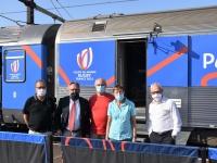 Le Train de la Coupe du Monde de la Fédération Française de Rugby est passé à Chalon