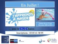 Le Centre Nautique Chalonnais organise 4 sessions en Juillet. 1 session comprend 10 séances, elles sont obligatoires.