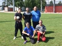 Grâce au RTC (Rugby Tango Chalonnais) de nombreuses personnes de l'ESAT (Etablissement et Service d'Aide par le Travail) découvre le 'Touche Rugby'