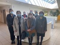 Des élus de Montcenis en visite à la Maison de Santé