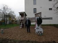 Une aire de jeux dans le quartier de la rue Vincenot.