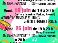 Ambiance musicale les vendredis soirs de juin à Châtenoy-le-Royal
