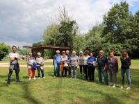 Le groupe de sport adapté a fait une séance à l'étang Chaumont