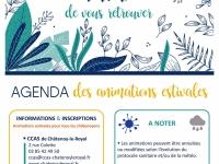 ̏Heureux de vous retrouver˝ l'agenda des activités estivales du CCAS de Châtenoy-le-Royal