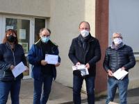 Masque obligatoire dans les écoles, la mairie de Châtenoy-le-Royal apporte sa contribution.
