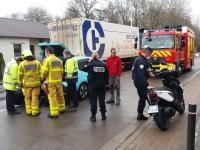 Collision entre une voiture et un scooter à Chatenoy-le-Royal.