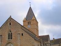 Fontaines : Restauration de l'église Saint Just , un édifice du XIIIème siècle.