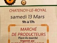 Le samedi 13 Mars 2021 à Châtenoy le Royal, le marché des producteurs locaux aura bien lieu.