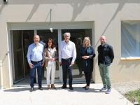 André Accary Président du département de Saône et Loire en visite à Châtenoy-le-Royal
