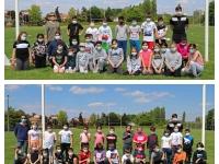 Initiation au rugby pour les élèves de l'école primaire Berlioz de Châtenoy-le-Royal.