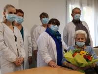 La ville de Saint Rémy fait honneur à Mme Jussiaux pour ses 100 ans