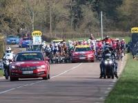 La 4ème étape de la course cycliste Paris-NiceChalon- Chiroubles s'est élancée de Chalon ce mercredi avec un départ réel au lieudit les Faugourets.
