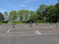 Séances théoriques et pratiques de l'usage du vélo pour les élèves de CM2 de Saint Rémy.