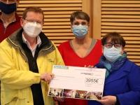 Saint Rémy contribue à l'action du Téléthon 2020 avec un chèque de 3955 €
