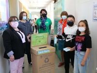 La ville de Saint Rémy totalise 7 Totems de collecte de masques chirurgicaux.