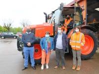 Un nouveau tracteur pour le service des espaces verts de Saint Rémy.