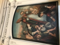 Saint Loup de Varennes : Le tableau de St Loup a retrouvé sa place dans l'église