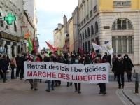 Une centaine de personnes ont défilé pour la 4ème journée de mobilisation contre la loi «Sécurité Globale» à Chalon-sur-Saône