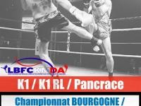 Aujourd'hui, Championnat de K1, K1 RL et Pancrace de Bourgogne Franche-Comté au Dojo de Saint-Marcel