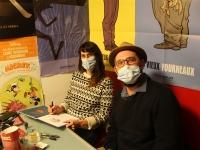 Lucy Mazel et Cédric Mayen en dédicaces à l'Antre des Bulles