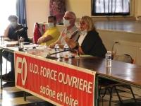 Le comité départemental de Force Ouvrière réuni à Chalon sur Saône
