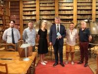 Inauguration de la nouvelle salle d'étude de la Bibliothèque municipale de Chalon-sur-Saône