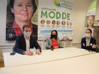 RÉGIONALES : Visite de soutien d'Éric Piolle à Stéphanie Modde