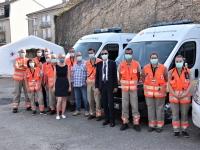 Visite du Sous-préfet sur le service de secours de pointe de  la Croix Rouge mis à disposition des festivaliers !