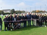 Inauguration du terrain synthétique Jean-Pierre Bouillin sur le pôle foot du stade Léo Lagrange