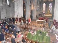 Beaucoup de monde pour la 'Messe de la Saint-Hubert' célébrée en l'honneur des viticulteurs