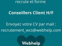Webhelp recrute pour son site de Chalon sur Saône.