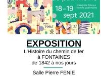 Journées européennes du patrimoine les 18 et 19 septembre, « une petite histoire du train à Fontaines ».