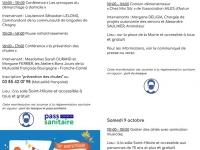 La Semaine Bleue à Fontaines du 4 au 10 octobre 2021.