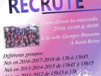 L'association K Dance pompons de Saint Rémy propose des cours d'essai le mercredi 8 Septembre à la salle de l'espace Brassens.