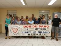 Comité d'administration en présentiel pour préparer la collecte de sang à Virey le Grand le 29 septembre 2021