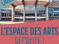 L'Espace des Arts recherche un(e) agent d'entretien H/F pour un poste de 10 à 15H/hebdomadaire et dès que possible