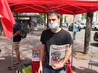 Lutte Ouvrière à Chalon-sur-Saône pour débattre sur la vaccination et le pass sanitaire