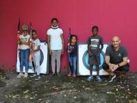 Des enfants des Aubépins initiés au tir à l'arc