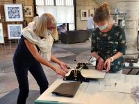 Jusqu'au 12 septembre, exposition de gravures libres par le Groupe «Envers Endroit»,