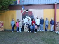 Champforgeuil, l'accueil périscolaire Gustave Courbet présente les peintures sur bois réalisées par les enfants