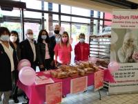 Vendredi et samedi, le CCAS de Châtenoy le Royal a organisé la vente de brioches au profit de l'association ̏ Toujours Femme˝.
