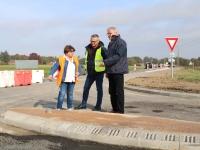 Gros travaux de sécurisation au carrefour de la RD977 et RD49 à Saint Rémy.