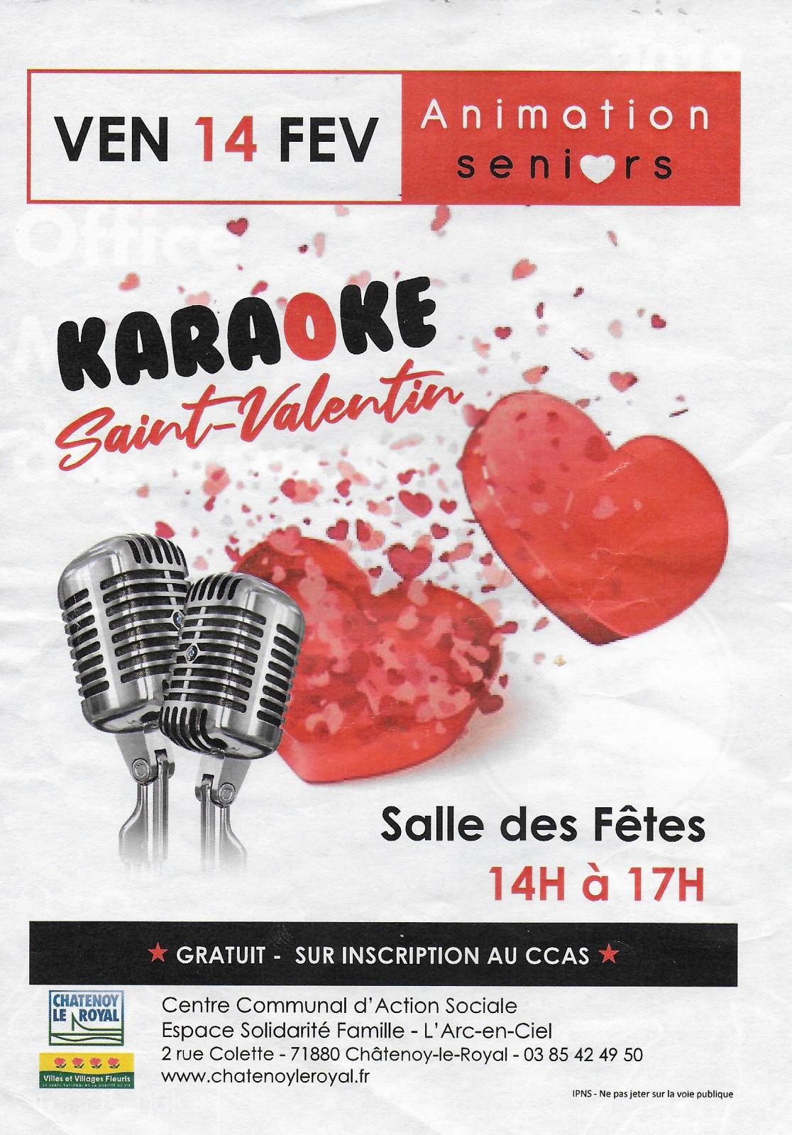 Chalon Sur Saone Vendredi 14 Fevrier 2020 Karaoke Geant A La