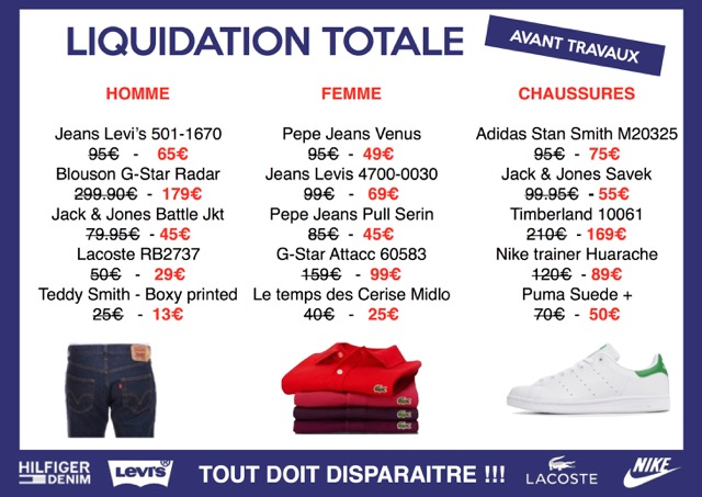 liquidation totale avant travaux au bar jeans info chalon l 39 actualit de info chalon. Black Bedroom Furniture Sets. Home Design Ideas