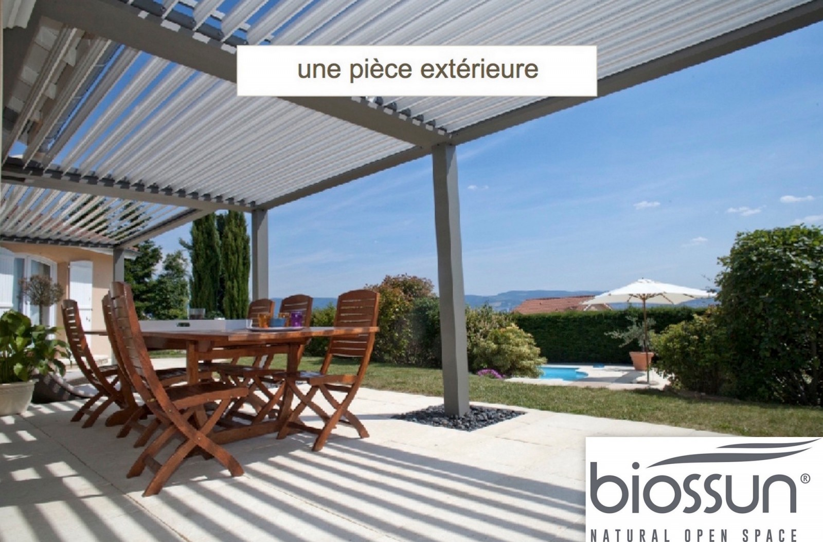 pergola bioclimatique piece multi saisons accueil design. Black Bedroom Furniture Sets. Home Design Ideas