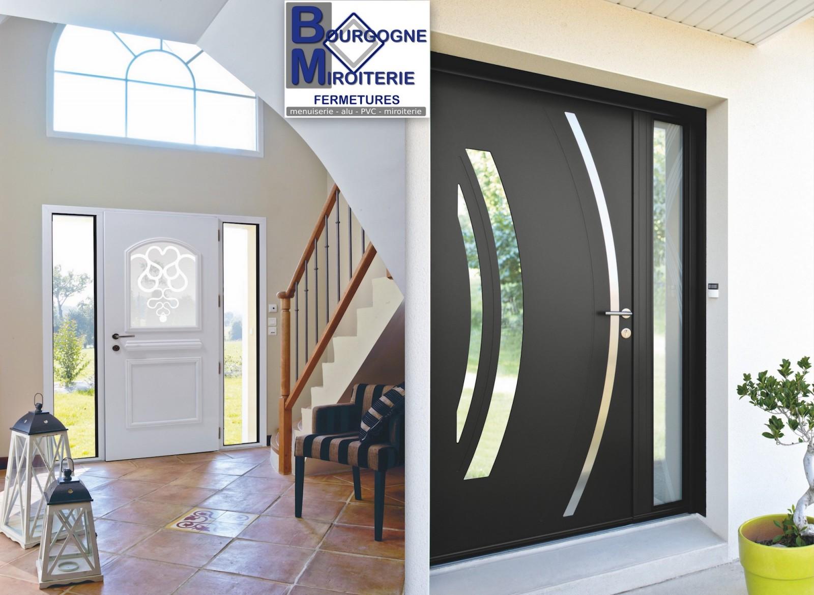 Bourgogne miroiterie fermetures votre porte d entr e - Porte isolante entre garage et maison ...
