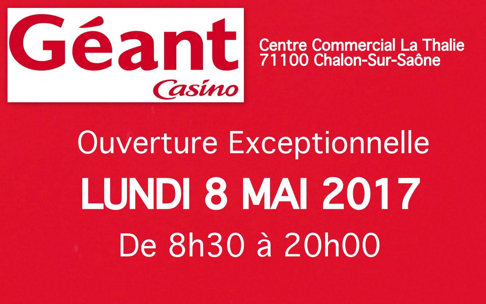 Geant casino mandelieu ouvert le 1 mai