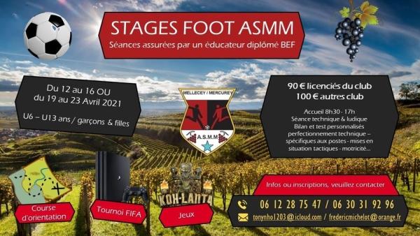 Il reste encore des places pour les stages foot de l'ASMM